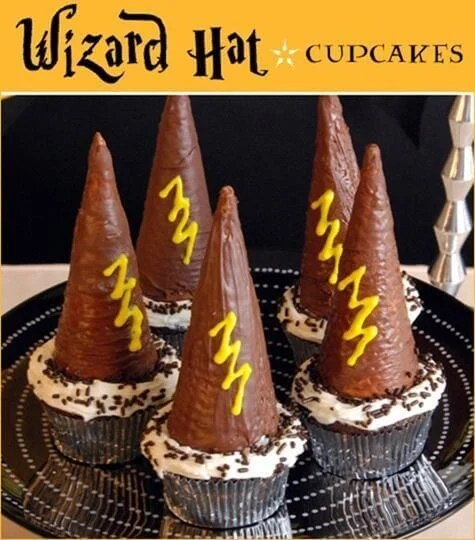 These point wizards hat cupcakes are as easy to make as they are fun!