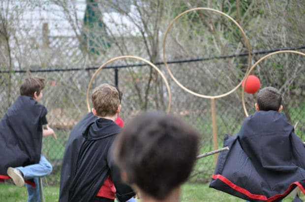 Set up a quidditch pitch in your garden - perfect for summer Harry Potter parties
