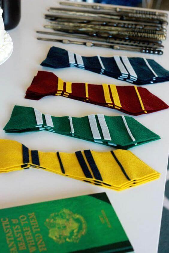 Guests will love taking home these Harry Potter Hogwarts House Tie Favors