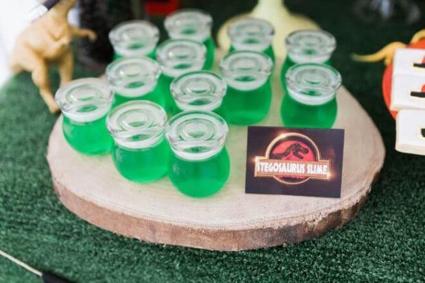 Boys Jurassic Park Birthday party Jello