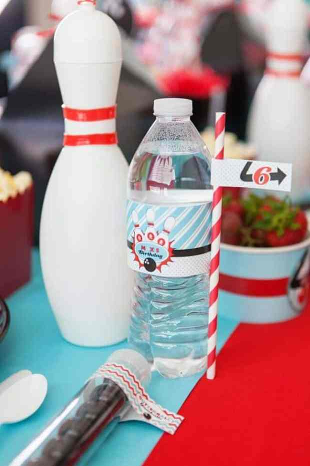 Boys Bowling Themed Birthday Party Food Party Table Decoration Ideas