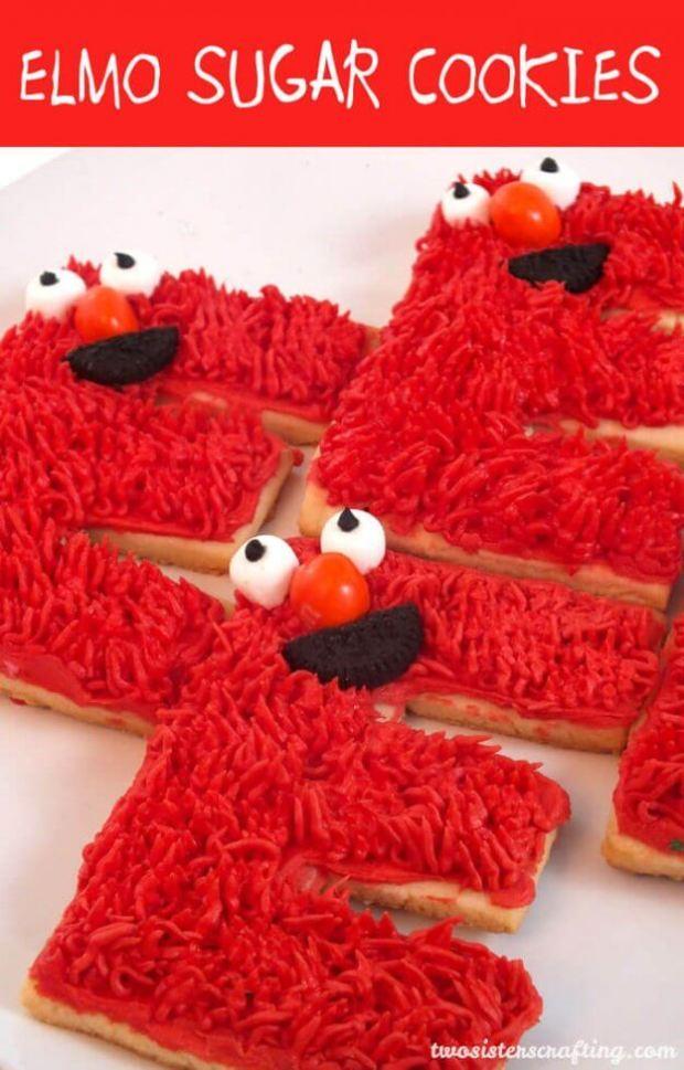 Elmo Sugar Cookies