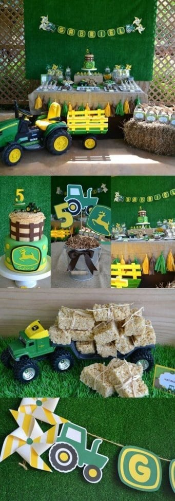 A Boys John Deere Tractor Party