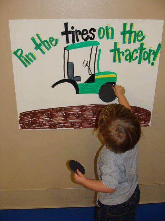 Pin the Tire on the Tractor Game