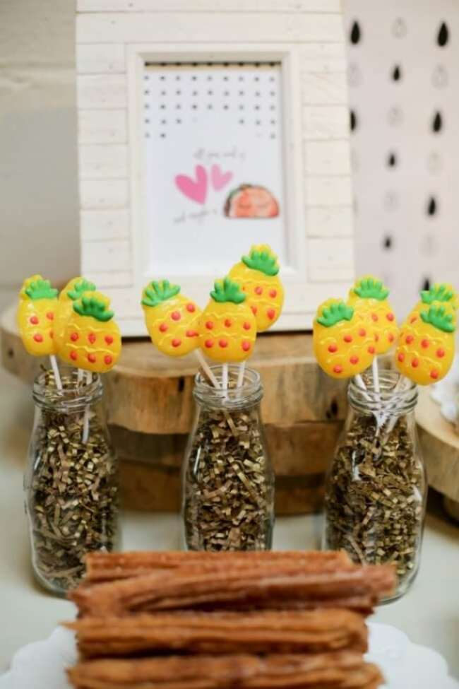 Dragons Love Tacos Birthday party pineapples