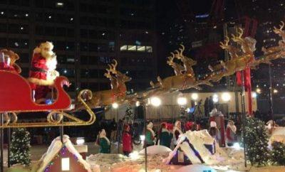 Chicago Festival of Lights Santa Claus
