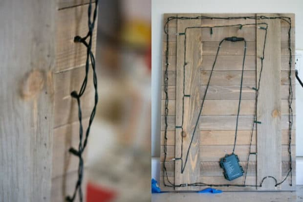 DIY Wooden Pallet Sign for Christmas