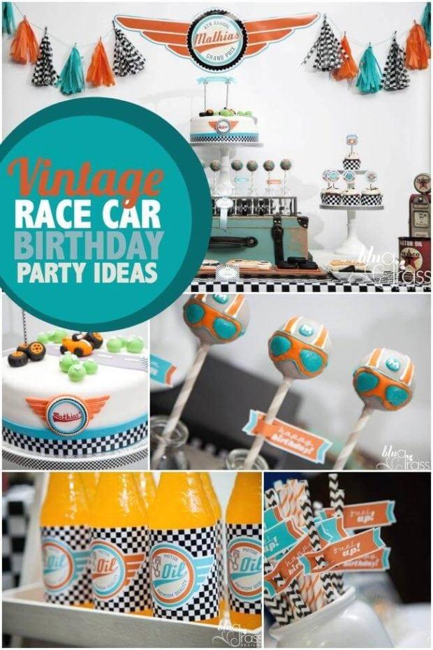 Vintage Race Car Birthday Party Ideas
