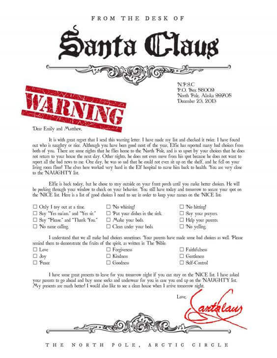 Free printable warning letter from santa free professional resume santa claus letter template new resume format and cv samples free printable santa letter template frugal mom eh letter from santa etsy letter from santa spiritdancerdesigns Choice Image