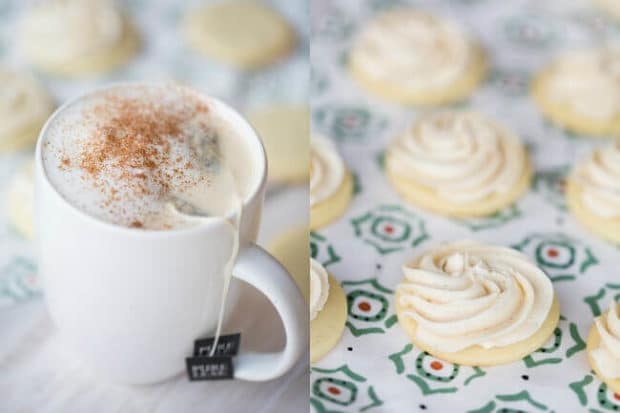 Shortbread Cookies with Tea Lattes
