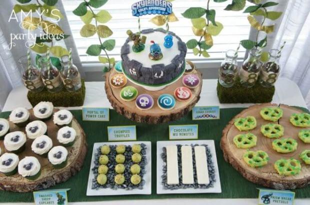 Skylanders Party Dessert Table