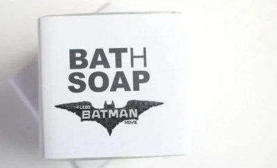 Homemade DIY Batman LEGO Soap