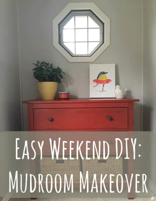 Easy Weekend DIY Mudroom Makeover Main