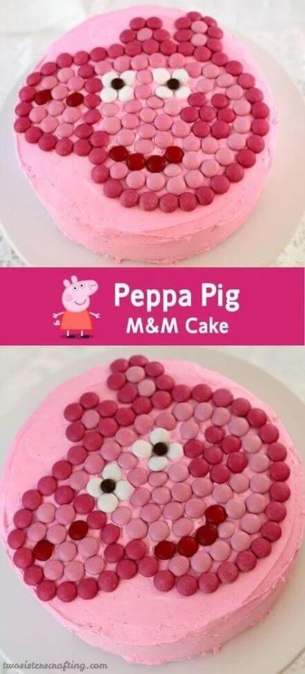 Peppa Pig Candy Cake