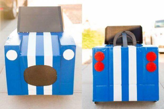 Cardboard Box Halloween Race Car