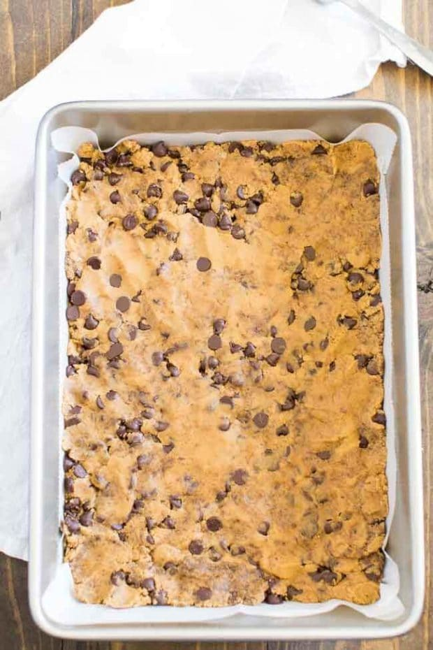 Chocolate Chip Cookie Bars Dough