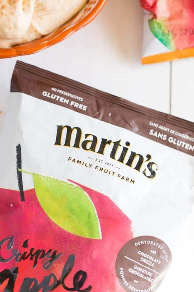Martin's Crispy Apple Chips with Chocolate