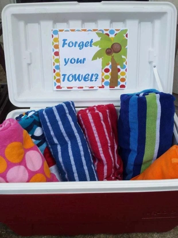 Pool Party Towel Station