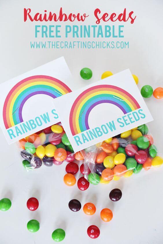 Rainbow Seeds Treat + Free Printable
