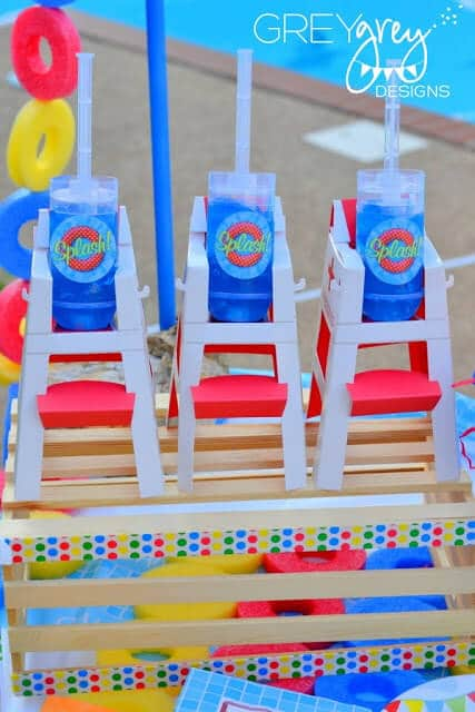 Lifeguard Chair Party Favors