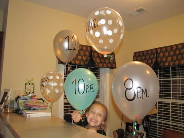 Hour by Hour Slumber Party Activity Balloons