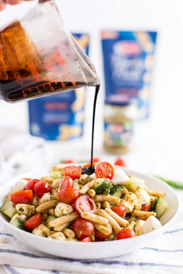 Cold Caprese Pasta Salad Recipe