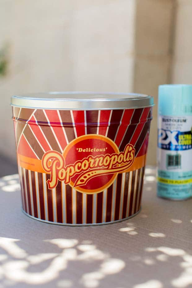 Makeover Popcorn Tin for Dog Food Container