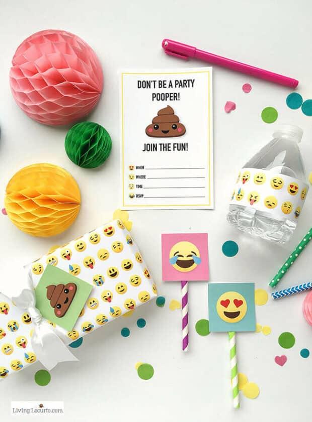 emoji party invite