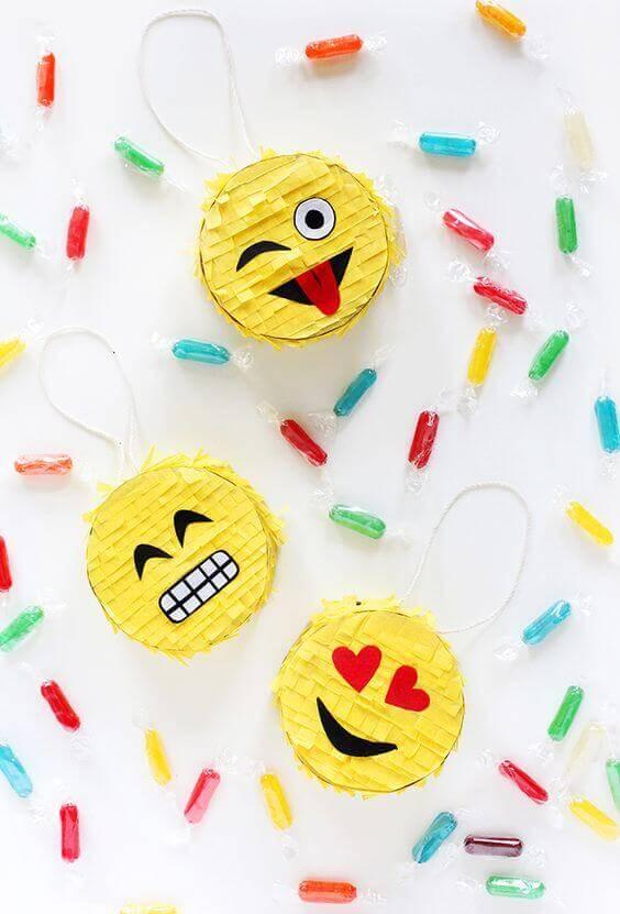 diy emoji pinata