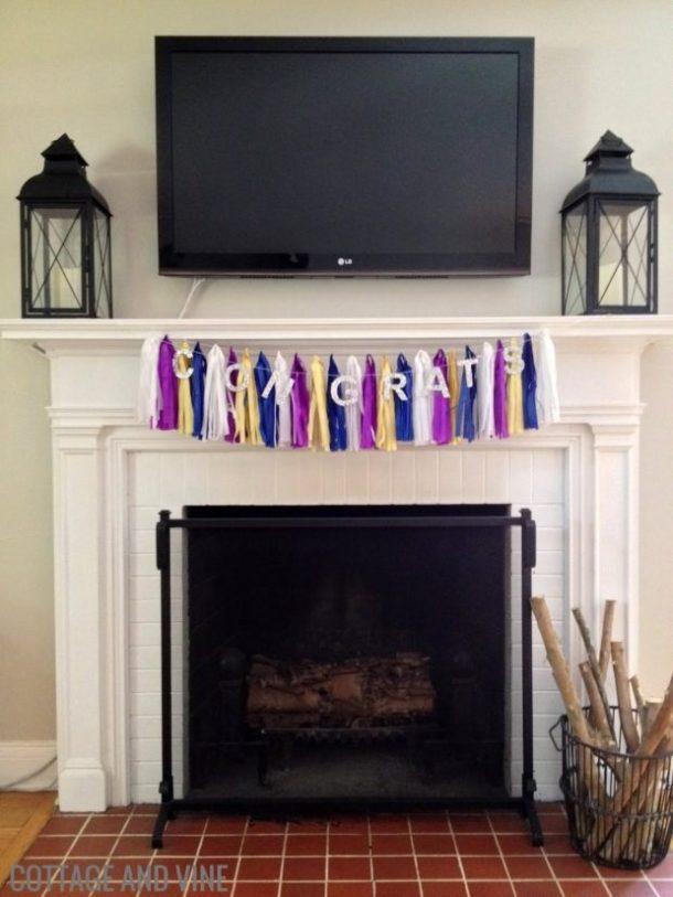 Congrats Banner by Cottage and Vine | 19 Graduation Party Decoration Ideas