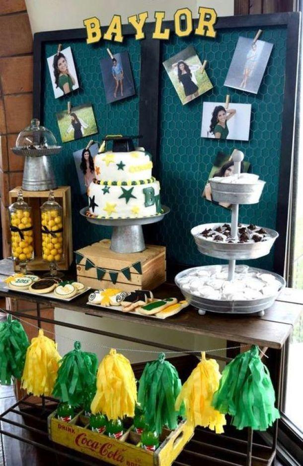 End of School Grad Party via Catch My Party | 19 Graduation Party Decor Ideas