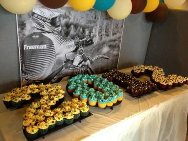 Graduation Cupcake Tabl4 by Blissfully Domestic | 19 Graduation Party Decoration Ideas
