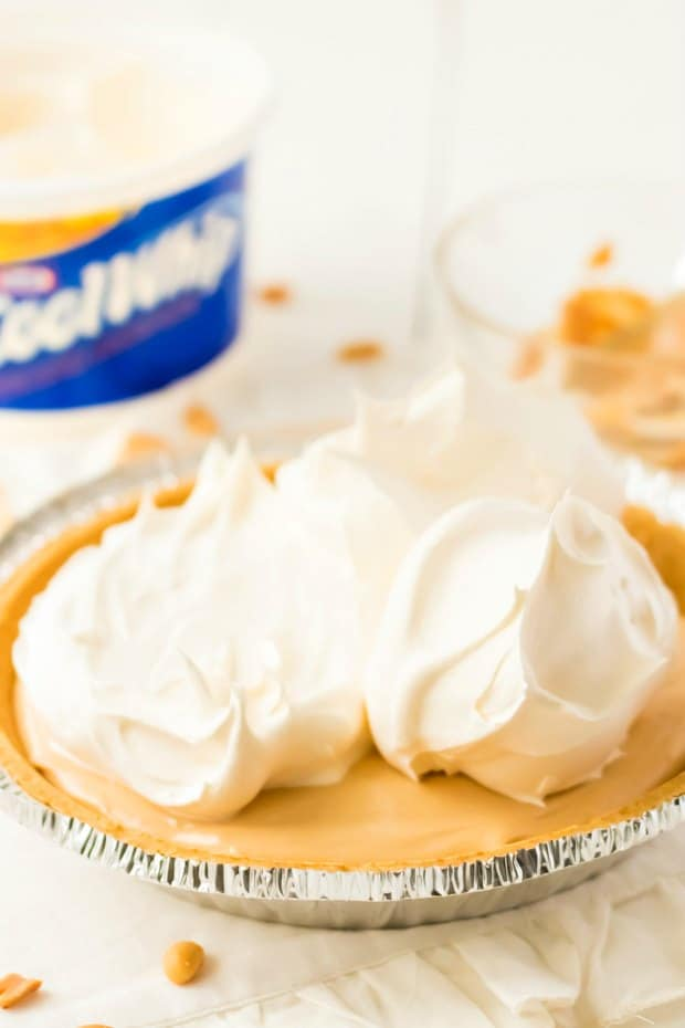 Cool Whip on Top of Peanut BUtter Pie