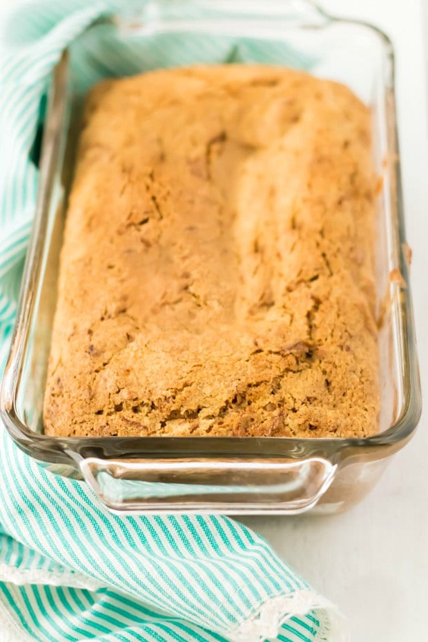 Carrot Cake Baked in a Loaf Pan