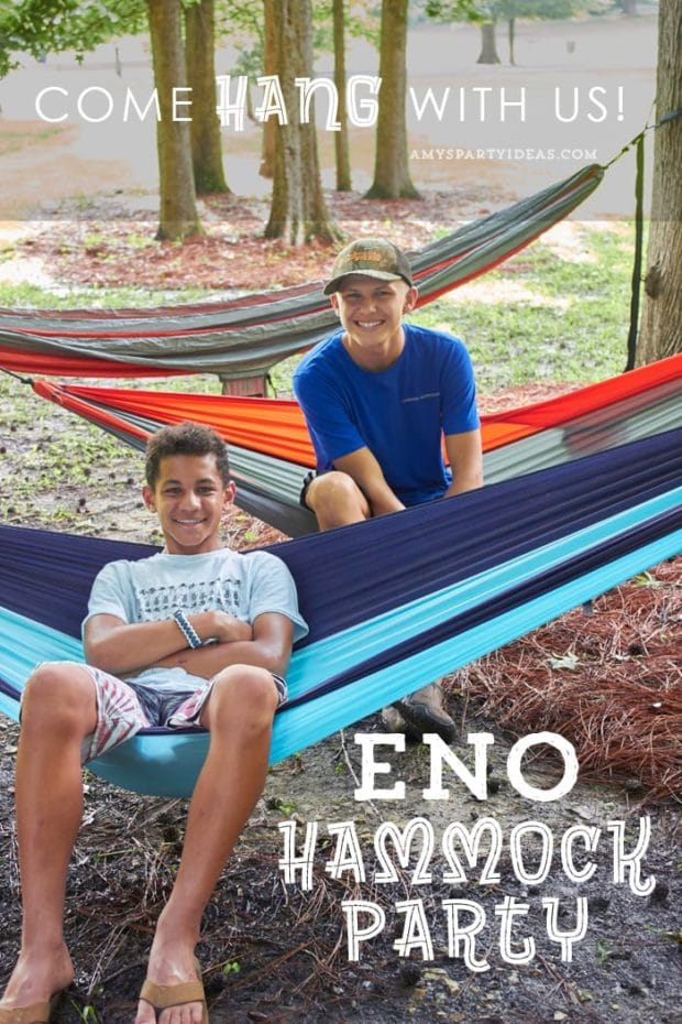 Eno Hammock Party from Amy's Party Ideas | The best teen birthday party ideas
