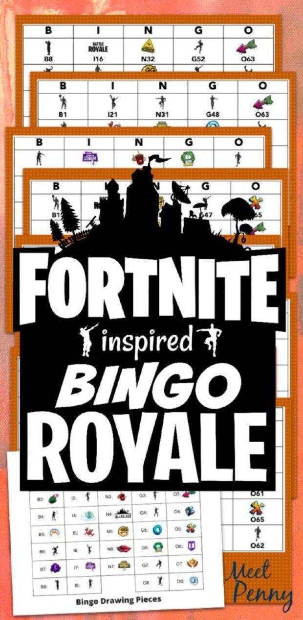 Fortnite Inspired Free Printable Bingo Game