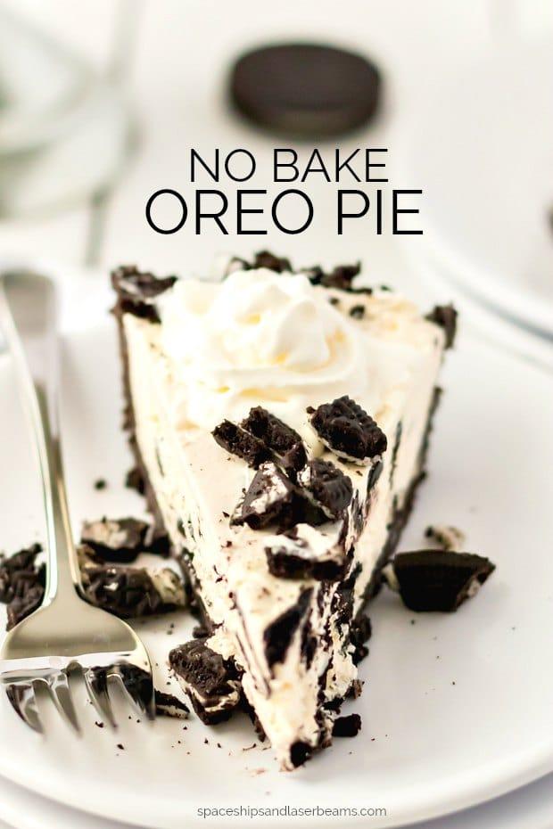 slice of oreo pie