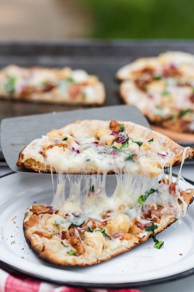 Cheesy Campfire Pizza