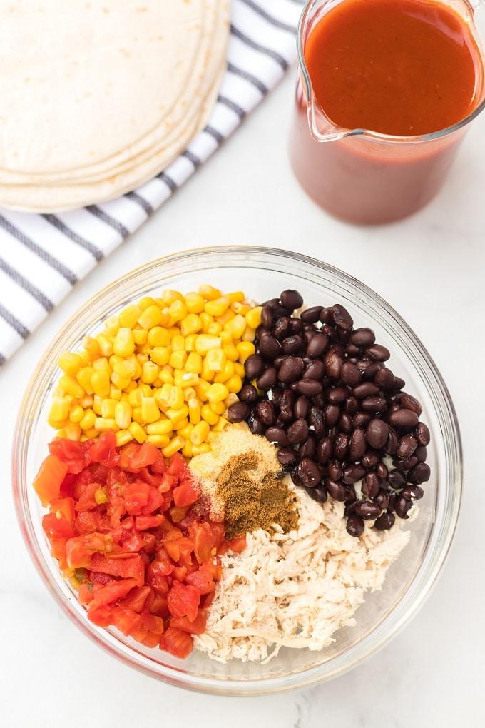 Chicken Enchiladas Ingredients