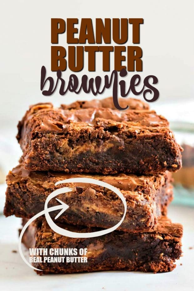 Stack of 3 Peanut Butter Brownies
