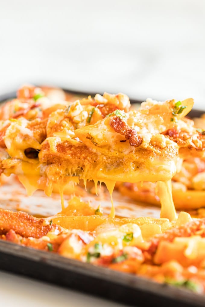 Cheesy Buffalo Chicken Fries