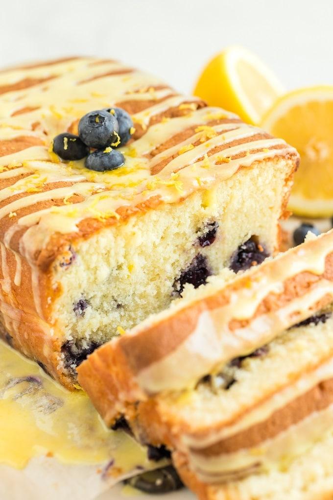 Easy Lemon Blueberry Bread