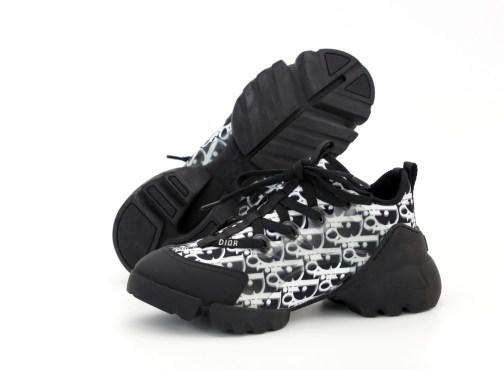 Кроссовки женские Dior D-Connect Kaleidiorscopic Sneaker Black White • Space Shop UA