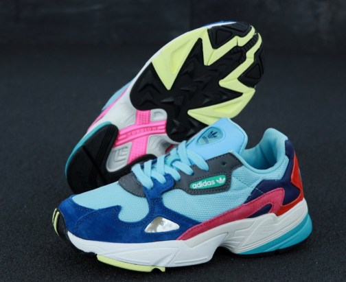 Кроссовки женские Adidas Falcon Clear Mint Collegiate Navy • Space Shop UA