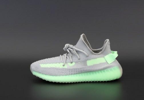 Кроссовки женские Adidas Yeezy Boost 350 v2 Grey Glow Volt • Space Shop UA