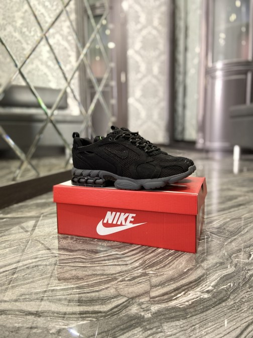 Кроссовки мужские Nike Air Zoom Spiridon Cage 2 Stussy Black Grey (Черный) • Space Shop UA