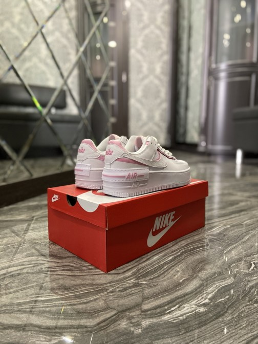 Кроссовки женские Nike Air Force 1 Shadow Blue Pink (Белый) • Space Shop UA