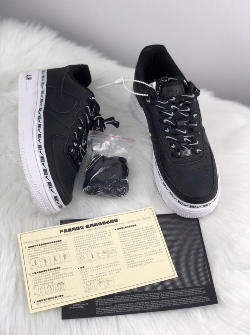 Кроссовки унисекс Nike Air Force 1 07 Low SE Premium White Black • Space Shop UA
