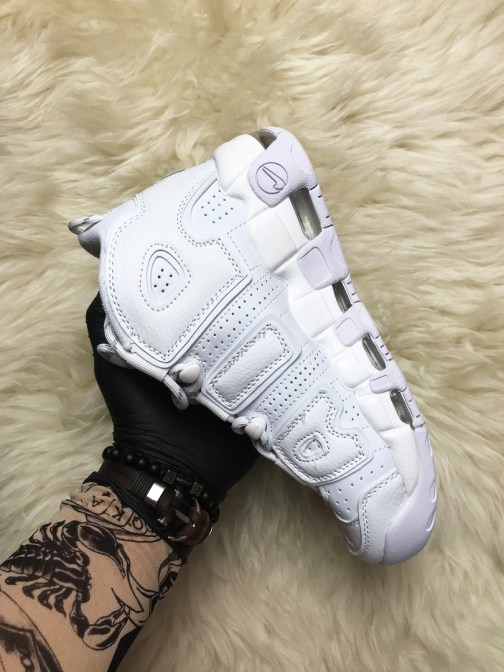 Кроссовки унисекс Nike Air More Uptempo Triple White • Space Shop UA