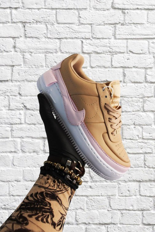 Женские кроссовки Nike Air Force 1 Low Jester XX Beige Pink White • Space Shop UA